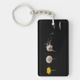 Dandelion Life Cycle Keychain/Keyring Single-Sided Rectangular Acrylic Key Ring