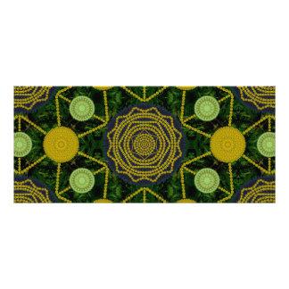 Dandelion Mandala Array Bookmark Custom Rack Card