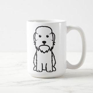 Dandie Dinmont Terrier Dog Cartoon Basic White Mug