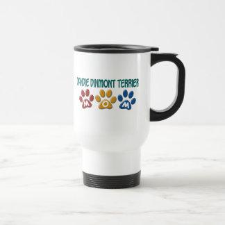 DANDIE DINMONT TERRIER Mom Paw Print 1 Stainless Steel Travel Mug