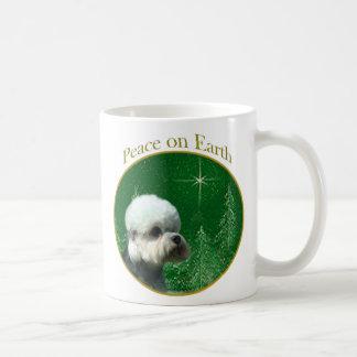 Dandie Dinmont Terrier Peace Basic White Mug