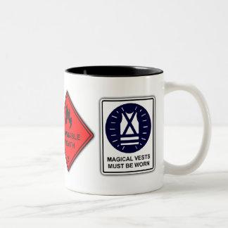 Danger Dragon - Funny Safety Warning Sign Geek Mug