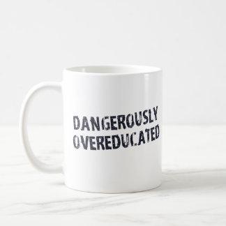 Dangerously Overeducated Basic White Mug