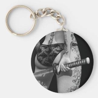 Dangerously Sharp Basic Round Button Key Ring