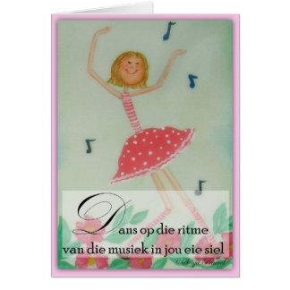Dans op die ritme greeting card