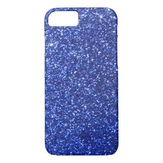Dark blue faux glitter graphic iPhone 7 case