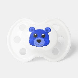 dark blue teddy bear face baby pacifiers