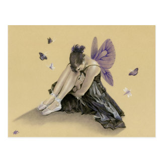 Dark fairy purple wings Postcard