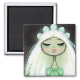 Dark Fairy Tale Character 9 - Sad Princess Square Magnet