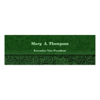 Dark Green Stucco Texture Pack Of Skinny Business Cards