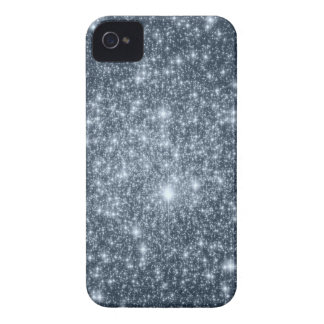 Dark Steel Blue Stars iPhone 4 Case-Mate Cases