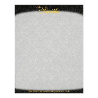 Dark Victorian Personalized Letterhead (2-Sided) 21.5 Cm X 28 Cm Flyer