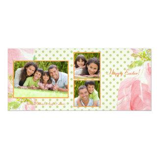 Darling Dots Triple Photo Card 10 Cm X 24 Cm Invitation Card