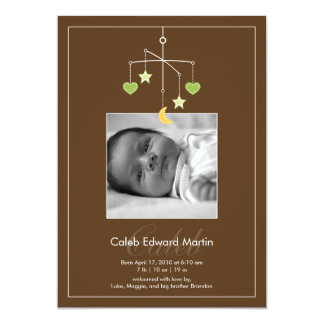 Darling Mobile Photo Birth Announcement - Green