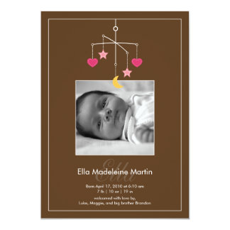 Darling Mobile Photo Birth Announcement - Pink