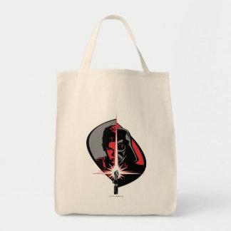 Darth Vader Half Face Grocery Tote Bag