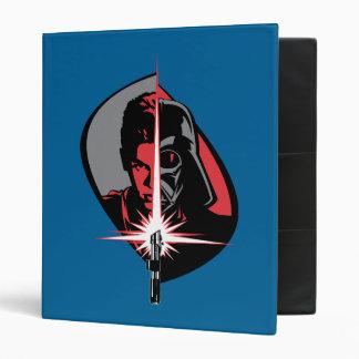 Darth Vader Half Face Vinyl Binder
