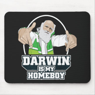 Darwin Is My Homeboy (Full Color) Mouse Pad