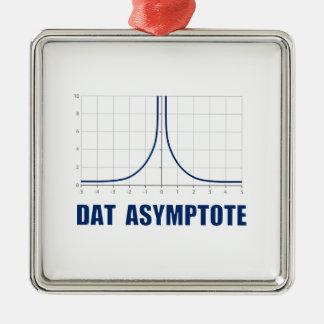 Dat Asymptote Silver-Colored Square Decoration