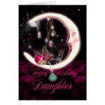 Daughter Birthday Card With Fantasy Moon Fairy