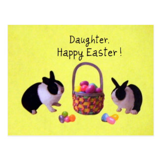 Daughter, Happy Easter! Postcard