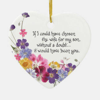 Daughter-in-Law gift Ceramic Heart Decoration