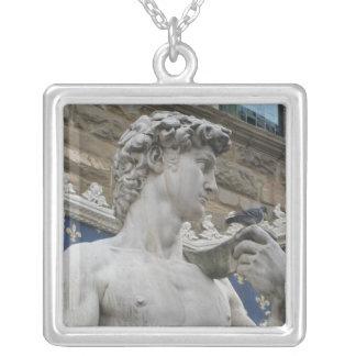 David by the Italian artist Michelangelo Square Pendant Necklace