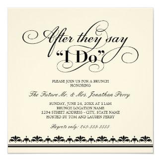 Day After Wedding Brunch Invitation   Wedding Vows