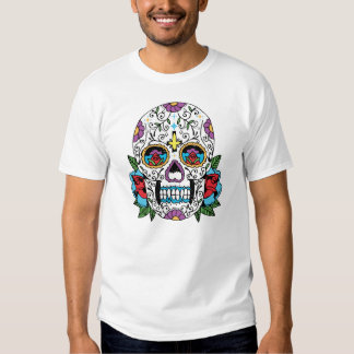 Day of the Dead Mexican Skull Tshirt