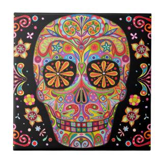 Day of the Dead Sugar Skull Ceramic Tile
