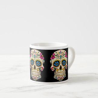 Day of the Dead Sugar Skull with Cross Espresso Mug