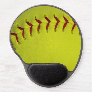Dayglo Yellow Softball Gel Mouse Pad