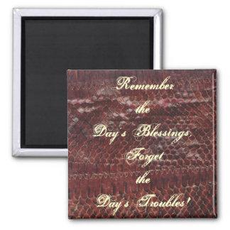 Day's Blessings Snake Leather Print Fridge Magnet