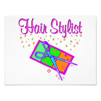 DAZZLING HAIR STYLIST AND BEAUTICIAN PHOTO PRINT