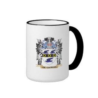 De-Giorgis Coat of Arms - Family Crest Ringer Mug