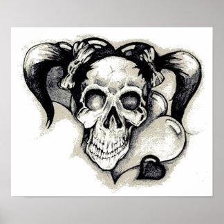 Dead Punk Rock Girl Poster