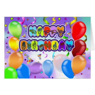 Deaf Language Happy Birthday Greeting Card