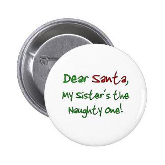 Dear Santa 6 Cm Round Badge