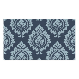 Decorative Damask Pattern Light on Dark Blue-Grey Pack Of Standard Business Cards