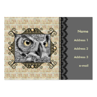 Decorative Owl Pack Of Chubby Business Cards
