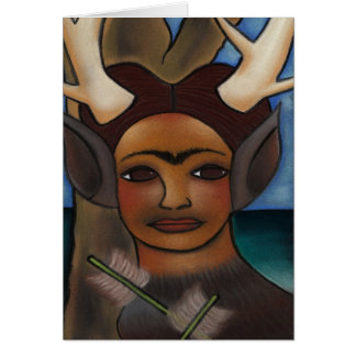 Deer Frida Greeting Card