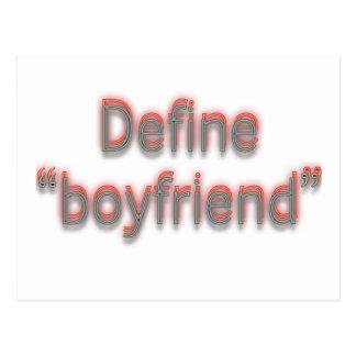 """Define """"boyfriend""""  Double colors Postcard"""