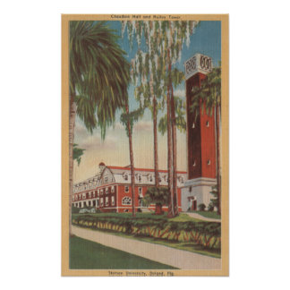 Deland, Florida - View of Stetson University Poster