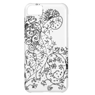 Delicate Line Drawings of Abstract Flower Dance iPhone 5C Case