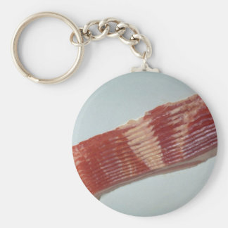 Delicious Raw bacon Basic Round Button Key Ring