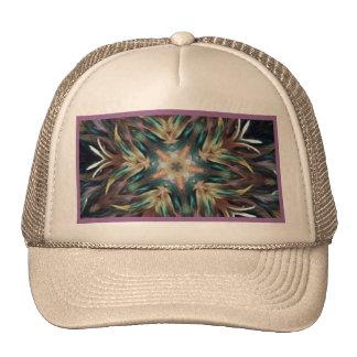 Delightful Delicate Feather Mandala Cap