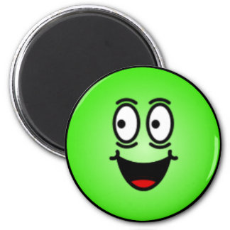 Deluxe Silly Smiley faces 6 Cm Round Magnet