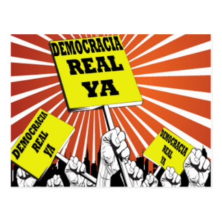 Democracia Real Ya postcard