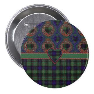 Denniston clan Plaid Scottish kilt tartan 7.5 Cm Round Badge