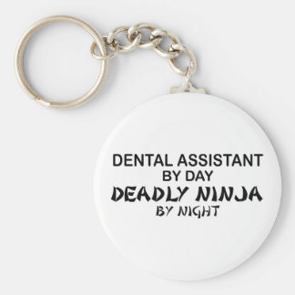 Dental Assistant Deadly Ninja Basic Round Button Key Ring